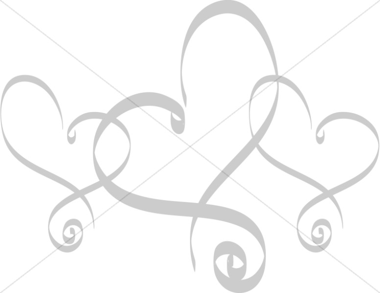 Trio of Fancy Hearts