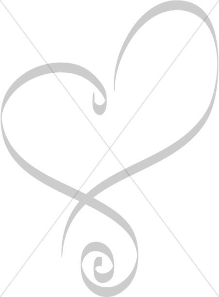Heart with Swirls