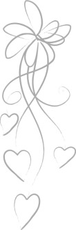 Silver Line Art Bow with Hearts