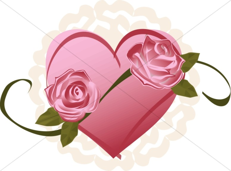 Romantic Heart and Roses Design