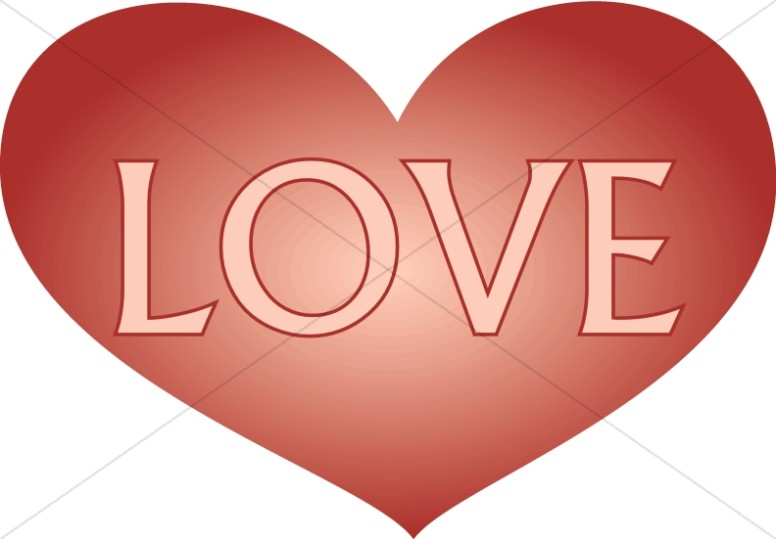 Love Text in Heart