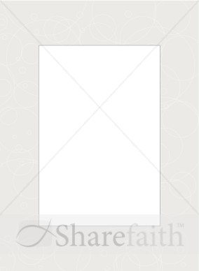 Gray Frame with Overlapping Circle Scribbles