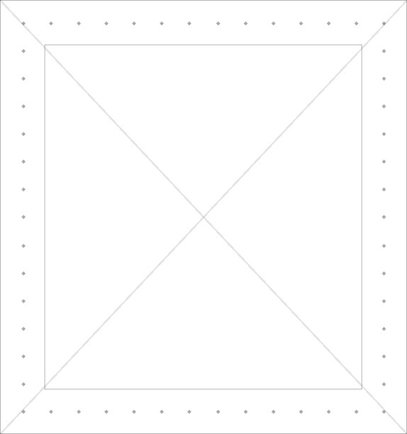 Square Line Border with Dots
