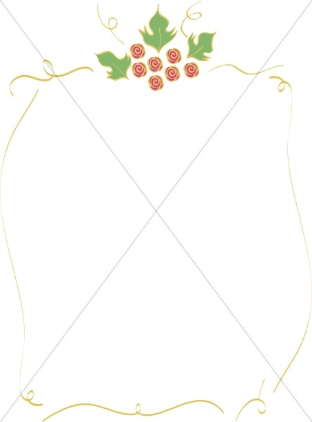 Christmas Holly Line Frame