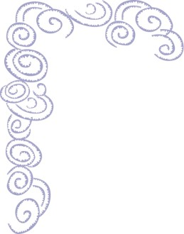 Stylized Purple Cloud Swirl Corner