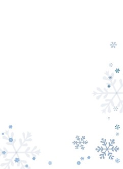 Blue Snowflakes Page Bottom