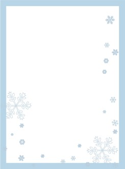 Blue Frame with Falling Snow