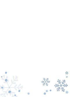 Simple Snowflake Page Footer