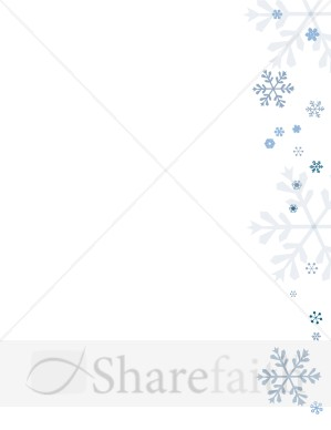 Blue Snowflakes Page Side