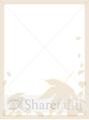 Fall Leaves Blank Bulletin