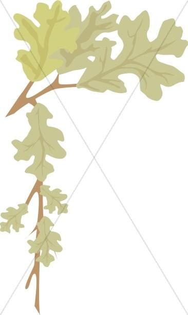 Oak Leaf Page Corner
