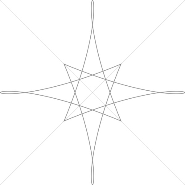 Geometric Star Outline