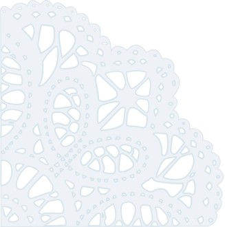 Corner Doily Decoration