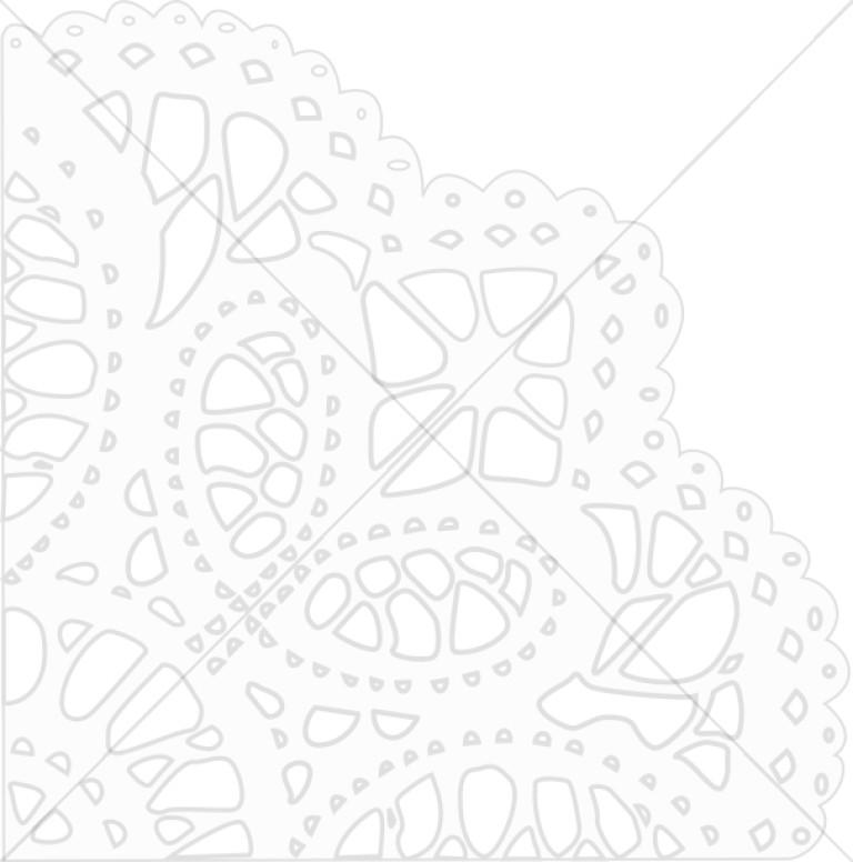 Corner Snowflake Outline