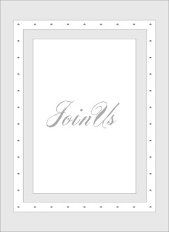 Join Us Script in Gray frame