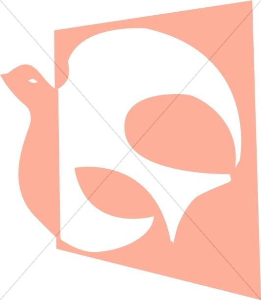 Pink Dove Graphic