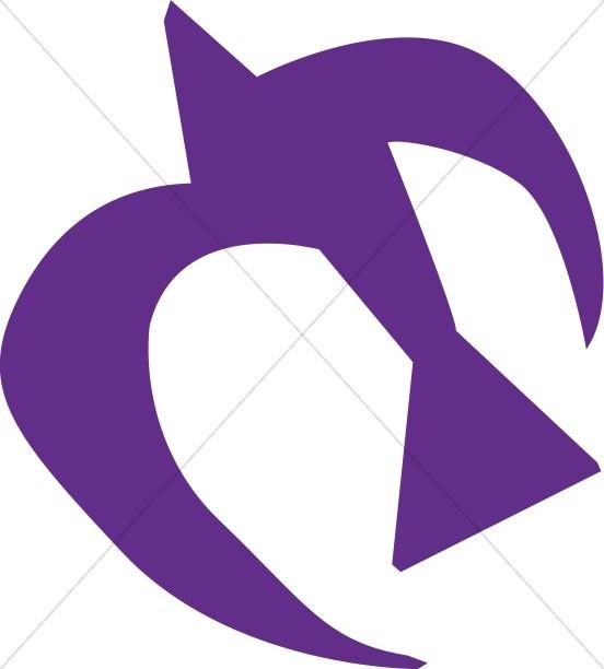 Purple Cut Out Dove
