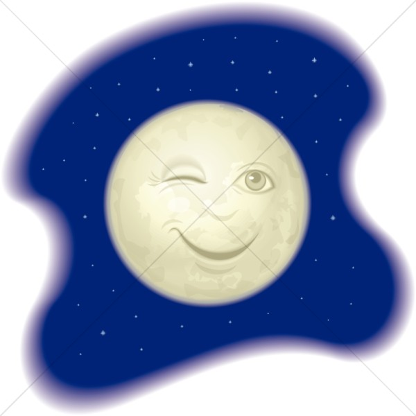 man in the moon clipart - photo #9