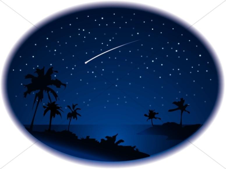 Shooting Star Over Ocean