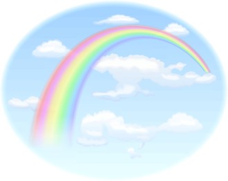 Rainbow in a Bright Blue Sky