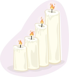 Four Altar Candles