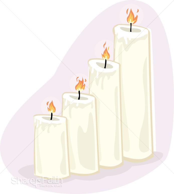 Four Altar Candles Church Candle