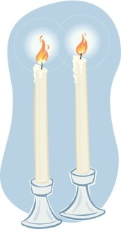 White Altar Candles for Marriage or Peace