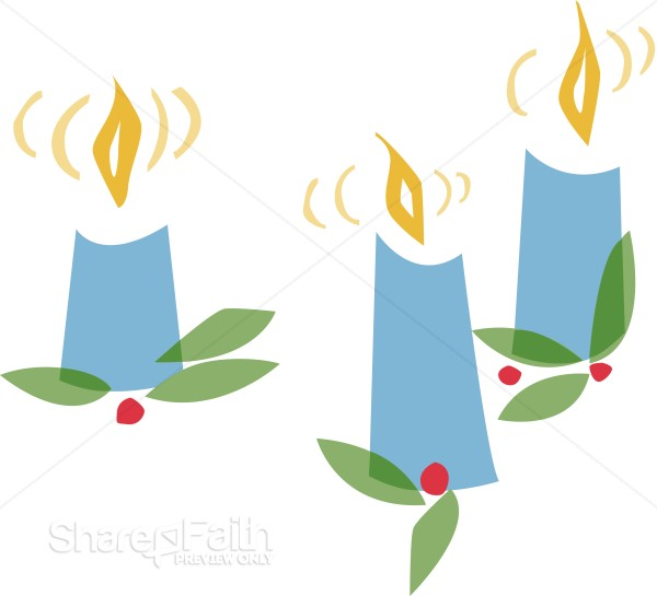 Candles and Holly
