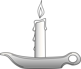 Single Candle in Dish