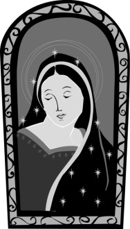 Virgin Mary Stained Glass
