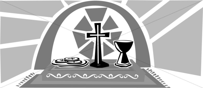 Black And White Communion Elements Lent Clipart