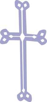 Blue Gray Rounded Cross