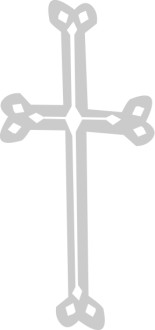 Gray Cross with White Cross Inside
