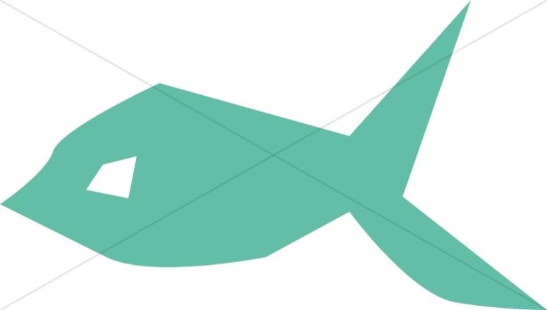 Turquoise Fish Symbol