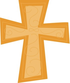 Stylized Gold Cross
