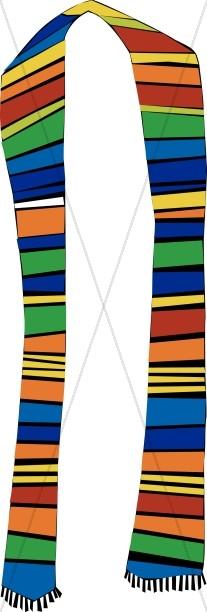 Multi Colored Stole