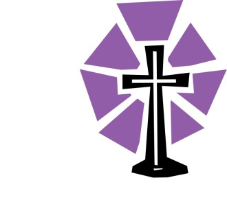 Cut Out Cross with Purple Shine