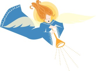 Christmas Angel Herald Clipart