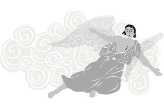 Clipart of Flying Angel