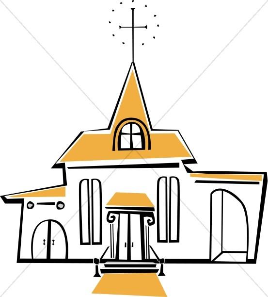 Joyful White and Yellow Church