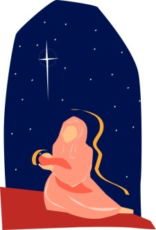 Mary Raises Her Baby to the Star of Bethlehem