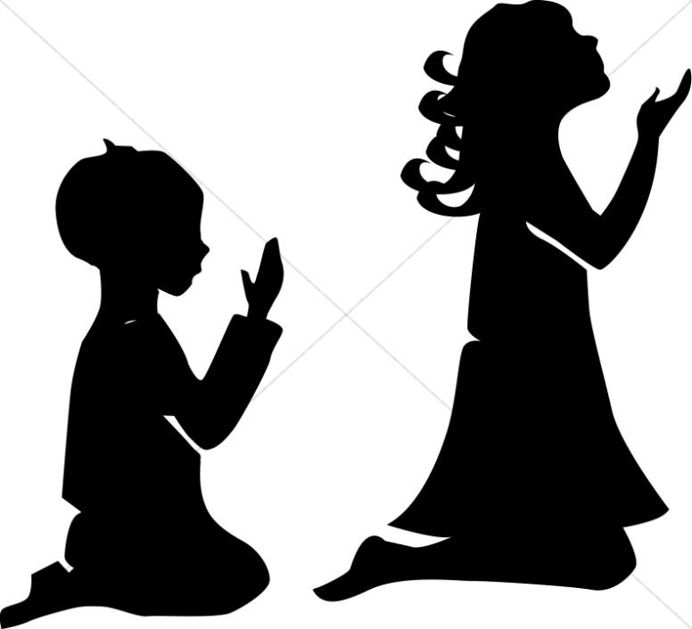 Children in Prayer | Sunday School Clipart