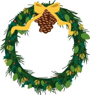 Evergreen Wreath with Pine Cones