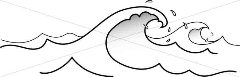 Crashing Cartoon Wave | Nature Clipart