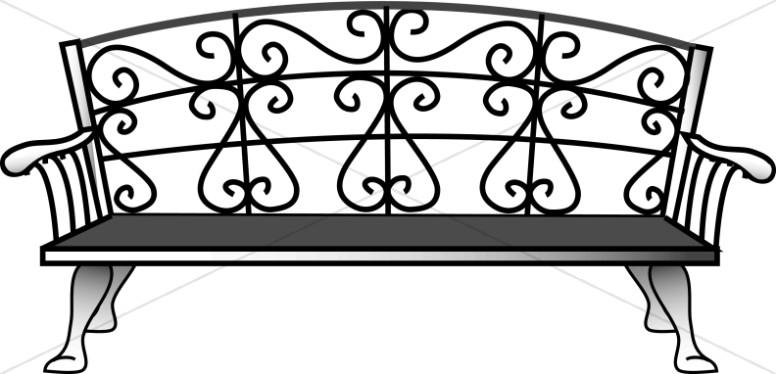 Nostalgic Iron Bench