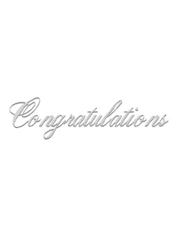 Silver Congratulations in Script Font