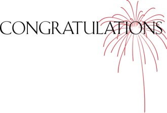 Congratulations with Red Fireworks Burst