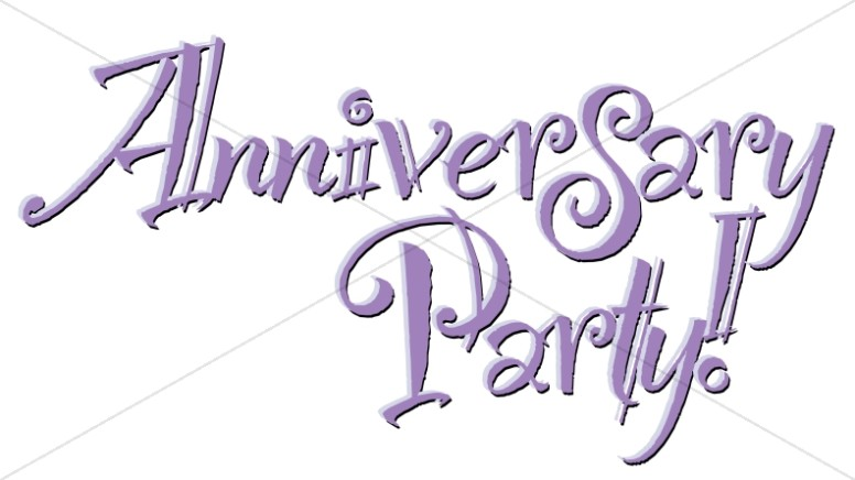 Exciting Anniversary Party Wordart