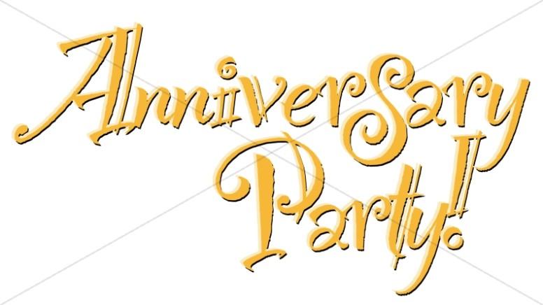 Golden Anniversary Party! Wordart