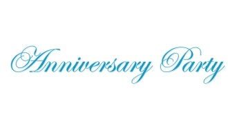 Elegant Blue Anniversary Party wordart